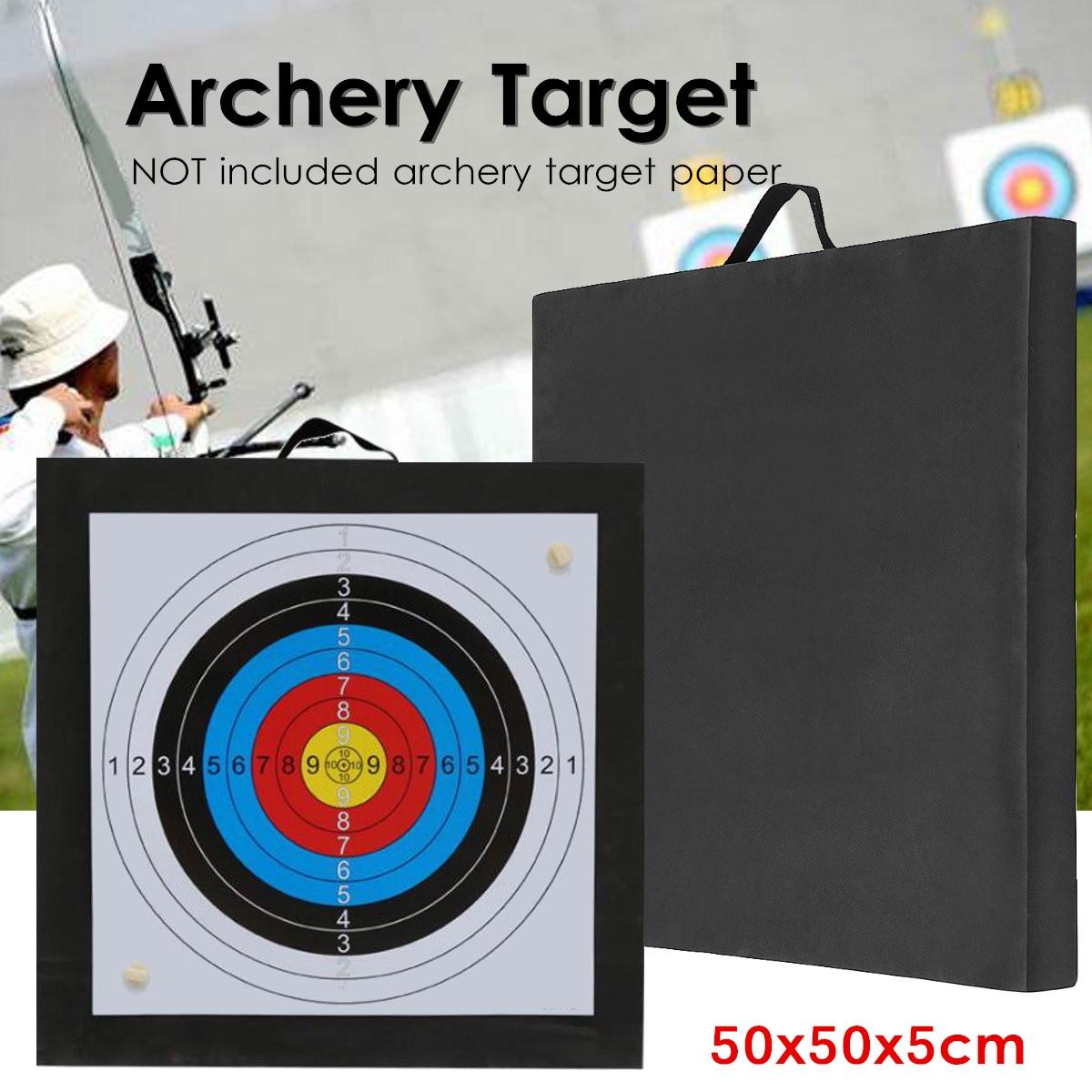 Archery Target High Density EVA Foam Shooting Practice Board Outdoor Sport Hunting Accessories RecurveCrossbow 50x50x5cm Black
