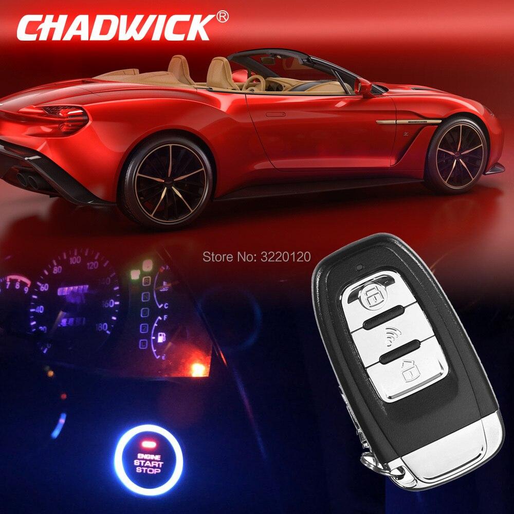 12 V voiture moteur démarrage arrêt SUV sans clé entrée moteur démarrage voiture système d'alarme bouton poussoir démarreur à distance arrêt Auto PKE CHADWICK 886