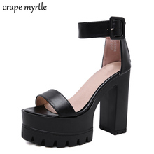 strappy sandals chunky heel summer Shoes Woman Platform Sandals women footwear zapatos mujer 2019 sandalia plataforma YMA696 недорго, оригинальная цена