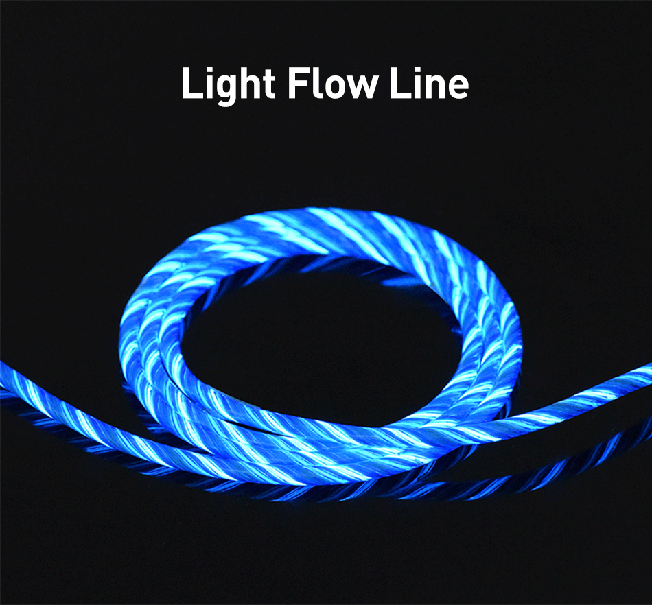 Image 5 - USLION Magnetic LED Light Cable Fast Charging Magnet Micro USB Type C Cable LED Wire Cord Type C Charger For Iphone  Samsung S10-in Mobile Phone Cables from Cellphones & Telecommunications