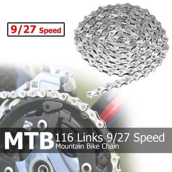 Łańcuch rowerowy 116 linki 9/27 prędkości MTB Mountain Bike kolarstwo stalowy łańcuch rower Giant akcesoria rowerowe części rowerowe