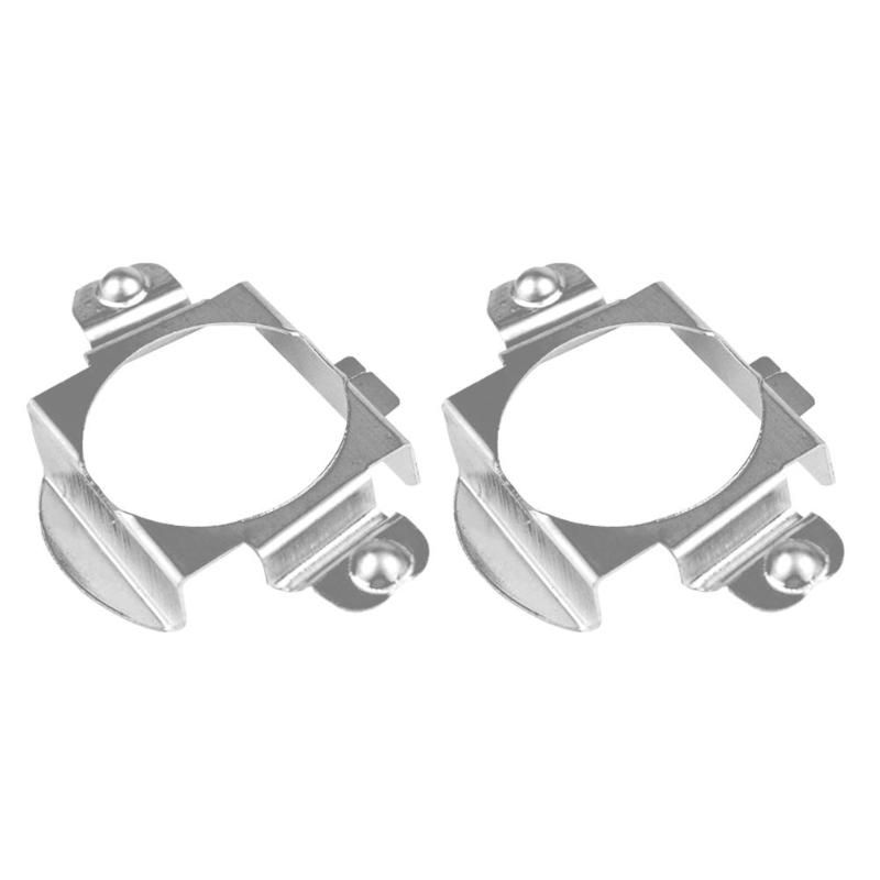 1 Pair <font><b>H7</b></font> Car LED Headlight Lamp Bulb Base <font><b>Adapters</b></font> Holders Retainer Clips For <font><b>BMW</b></font> 5 Series E60 for Low Beam car accessories image