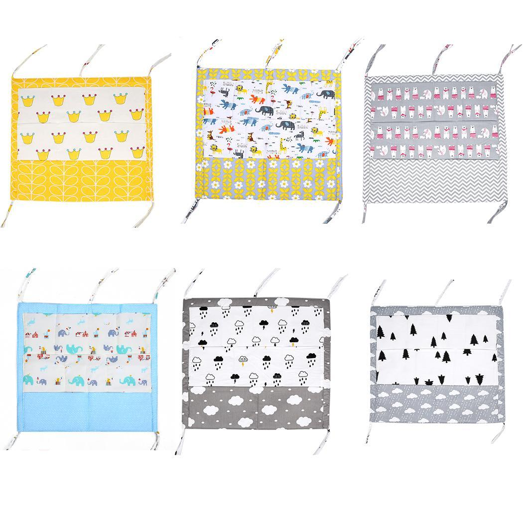 Cot Hanging Funtion Baby Crib Bag Nursery Multi-layer Storage As picture Bag