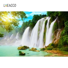 Laeacco Nature Waterfall Mountain River Backdrop Photography Backgrounds Customized Photographic Backdrops For Photo Studio