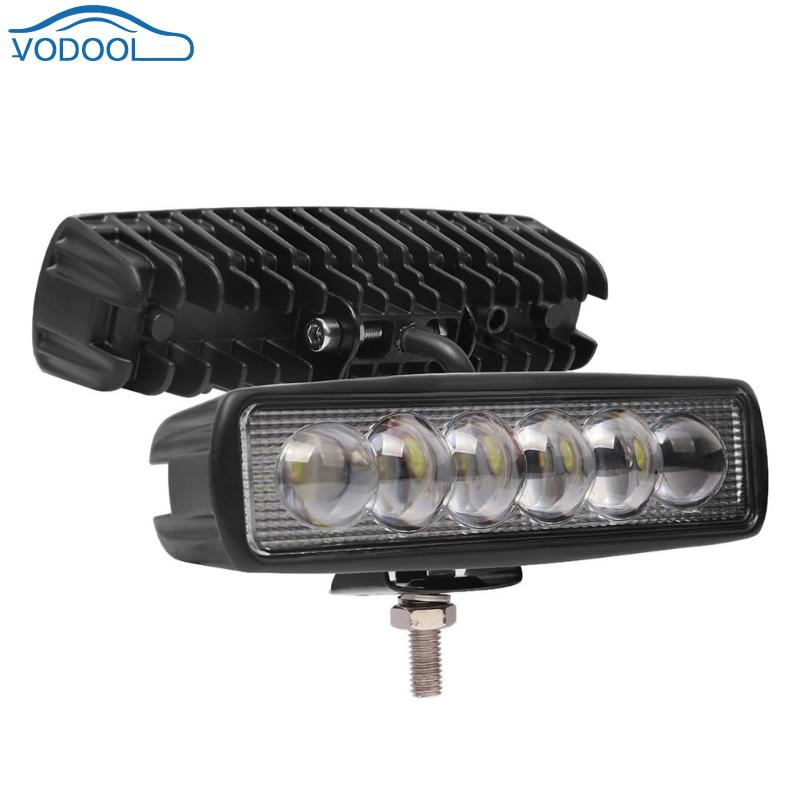 <font><b>16</b></font> Inch 18W 8D Lens <font><b>LED</b></font> <font><b>Work</b></font> <font><b>Light</b></font> Bar Automobile Spot Flood Beam Driving Lamp For Offroad Truck SUV Car Styling image