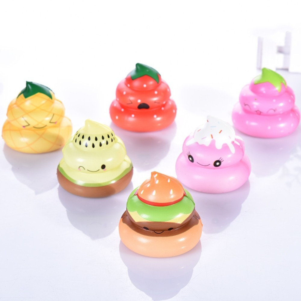 Gags & Practical Jokes Kawaii Rainbow Shit Squishes Pu Phone Strap Funny Joke Anti Stress Tricky Toys Squishy Slow Rising Cream Cake Toys For Kids