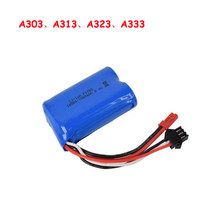 WLtoys Lithium Battery A303 A313 A323 A333 1/12 RC car 6.4v 1000mAh Li-ion battery Spare Parts ZLRC(China)