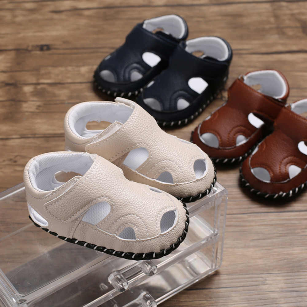 MUQGEW US Size 2019 Soft Sole Single Shoes Sandals Infant Newborn Baby Girls Pure Color Prewalker Soft Sole Single Shoes Sandals