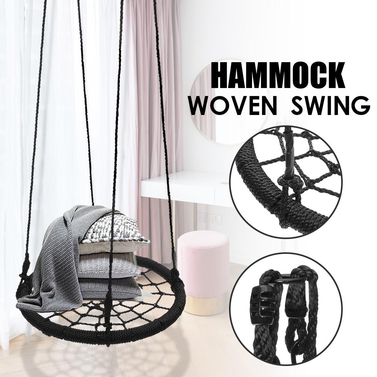 Round Hammock Outdoor Indoor Dormitory Bedroom Children Swing Bed Kids Adult Swinging Hanging Chair Home Furniture