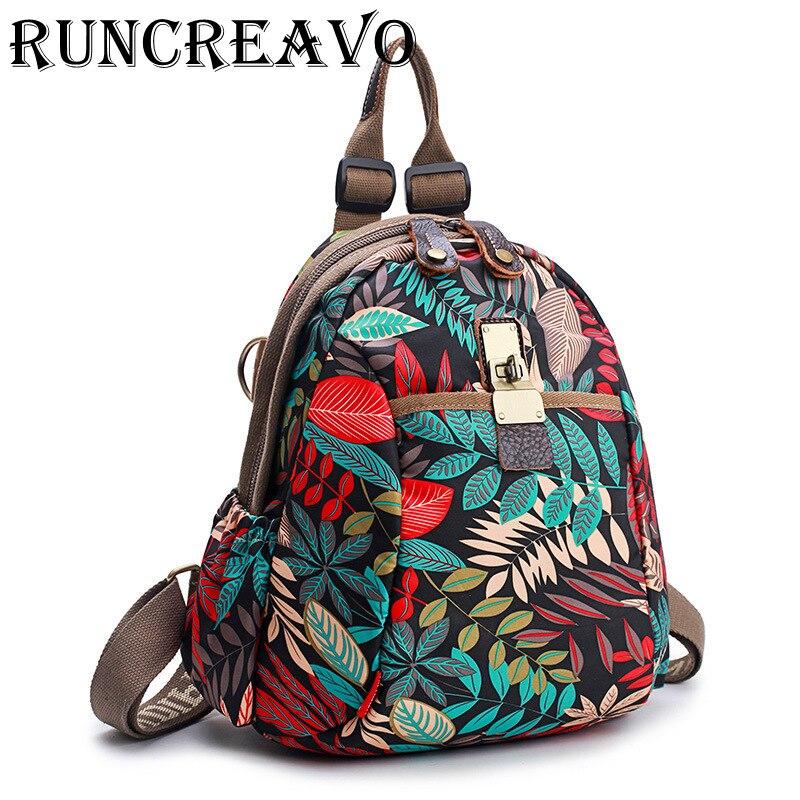 2018 rucksack women bagpack sac a dos femme flower printing travel backpack back bag pack school backpack bags for teenage girls
