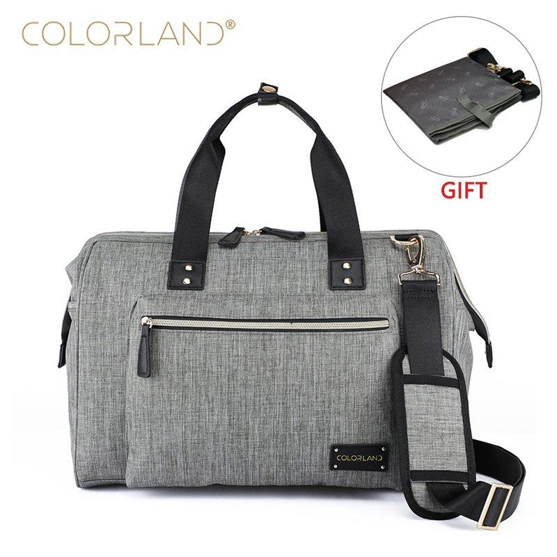 909024f445 COLORLAND Baby Diaper Bag Backpack for Mom Stroller Nappy Changing Mommy  Maternity Mother Organizer Wet Bags