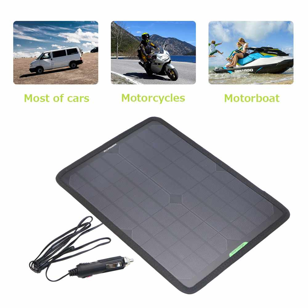 Charger Car-Battery-Panel Motorcycle Jump-Starter Portable 12V For Vehicle Boat Maintainer
