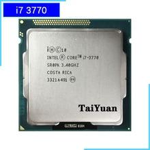 إنتل كور i7 3770 i7 3770 3.4 جيجا هرتز رباعية النواة معالج وحدة المعالجة المركزية 8 متر 77 واط LGA 1155