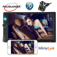 Auto car Radio Mirror Link for Android General Models Bluetooth hands free call rearview camera LCD Touch Screen 7'' 2 DIN
