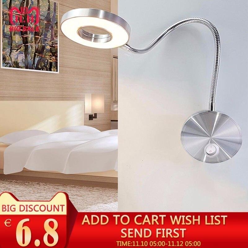 5 watt LED Schläuche Wand Lampe Flexible Home Hotel Nachttisch Lampe Wand Licht Moderne Mode Buch Lichter Aluminium LED lampen