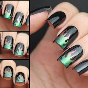 Image 3 - Plantilla de vinilos de uñas con 2 hojas, pegatinas huecas, plantilla de manicura calcomanías para decoración de Arte de uñas