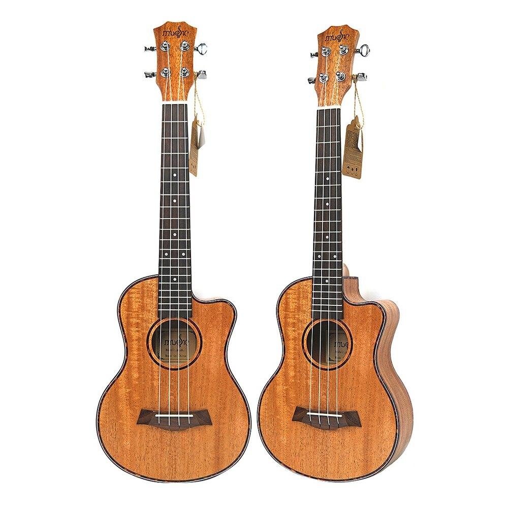 Тенор акустическая 26 дюймов Гавайские гитары укулеле 4 струны гитары путешествия дерево красное дерево музыкальный инструмент