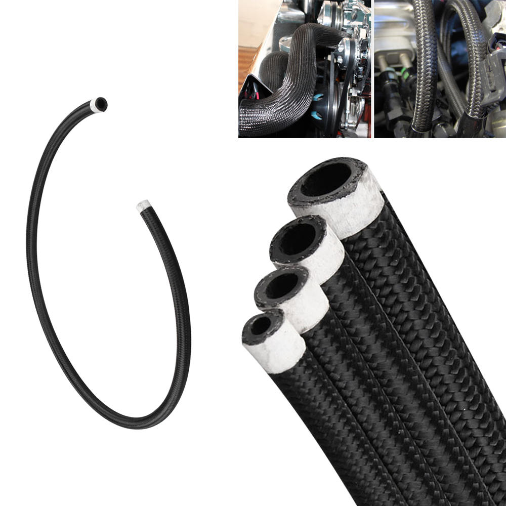 1M Nylon Stainless Steel Braided Brake Gas/Oil/Fuel Line Hose AN4/AN6/AN8/AN10 Car Tubing Braided High Pressure Tubing1M Nylon Stainless Steel Braided Brake Gas/Oil/Fuel Line Hose AN4/AN6/AN8/AN10 Car Tubing Braided High Pressure Tubing