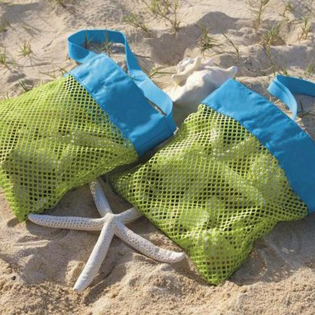 1 Pc Kids Baby Sand Away Carry Beach Toys Pouch Tote Mesh Large Children Storage Toy Collection Sand Away Beach Mesh Tool 10