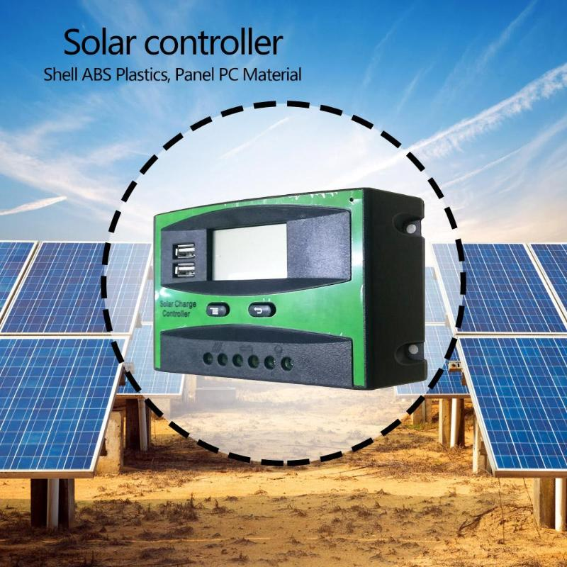 12/24V Solar Charging Controller Charger Regulator for Solar Panel PWM Controller LCD Display Dual USB 5V Output Solar Panel12/24V Solar Charging Controller Charger Regulator for Solar Panel PWM Controller LCD Display Dual USB 5V Output Solar Panel