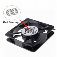 1pcs  AC 12025 axial fan ball bearing fan 12V 2wires cooling 120x120x25mm  Mute Cooler Cooling Fan Freight free 220x220x60 axial ac fan ac 380v 220 220 60 20060 cooler cooling fan