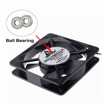 1pcs AC 220V 240V 12cm 120mm Two Ball Bearing 120mm x 25mm AC Axial Cooling Fan Indsutry Cooling Cooler Fan ta15052hbl 2 axial cooling fan ac 220v 0 18a 17252 17cm 172 150 52mm 2 wires 50 60hz