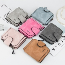 Womens Wallet Multi-Card Korean Version Buckle Frosted Leather Coin Purse Cute Student Ladies