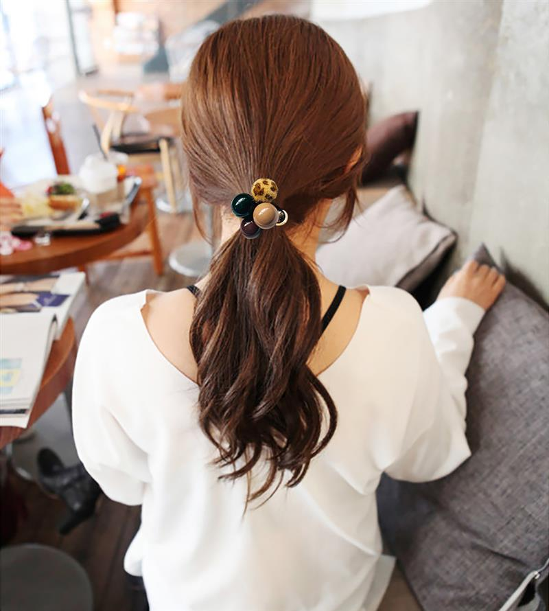 2PCS 2019 New Fashion Head Rope Ponytail Holders Fashion Elastic Hair Rope Hair Tie With Ball Decor Hair Accessories in Women 39 s Hair Accessories from Apparel Accessories