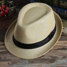 Las mujeres de los hombres vaquero hierba Unisex de Panamá otoño verano  Playa Sol sombrero Bowler cf835c84dc0