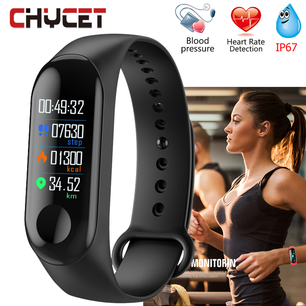 Chycet M3 Smart Bracelet Blood Pressure Measurement Watch Gps Heart Rate Monitor Fitness Band With Watch