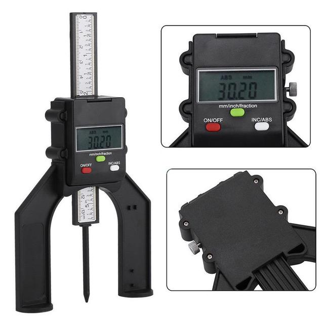 80mm Manual Digital Height Depthometer Instrument Table Bench Saw Tool TPM-130