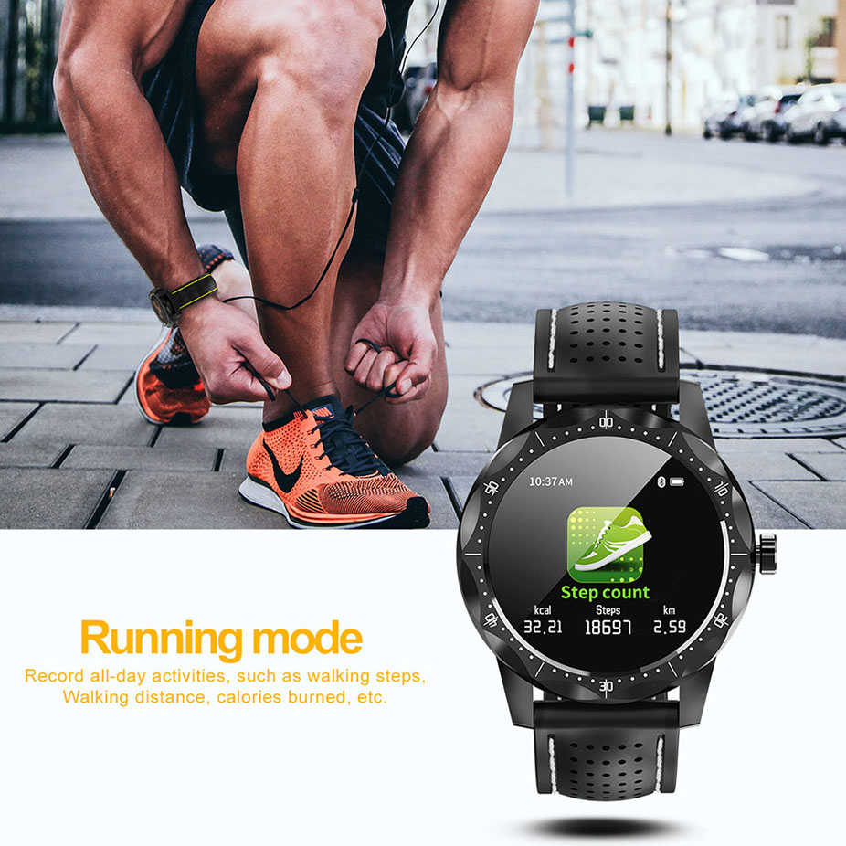 Colme de cielo 1 reloj inteligente IP68 impermeable de actividad Fitness Bluetooth hombres Smartwatch para iphone teléfono Android