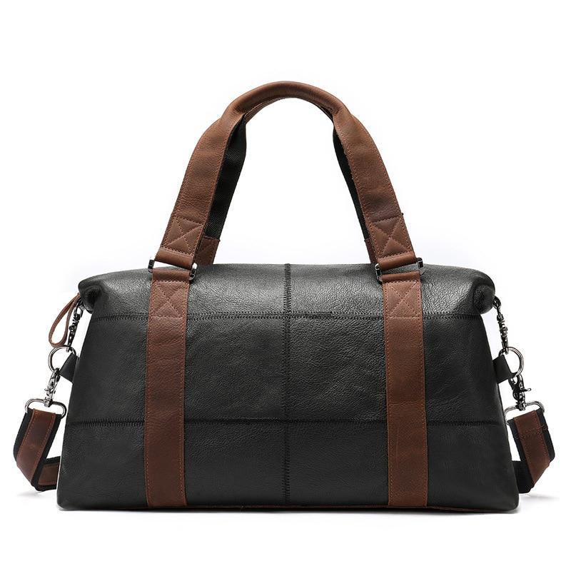 Luxury Brand Large Weekend Duffel Bag Big Genuine Leather Business Mens Travel Bag Popular Design Duffle HandbagLuxury Brand Large Weekend Duffel Bag Big Genuine Leather Business Mens Travel Bag Popular Design Duffle Handbag