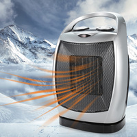 1500W Portable 3 gear Electric Shake Head Space Fan Heater with Handle Space Warming Machine Auto Head Shaking for Winter