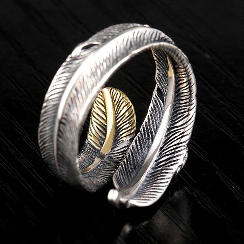 ZABRA 925 Ασημένια δαχτυλίδια vintage φτερά - Κοσμήματα - Φωτογραφία 3