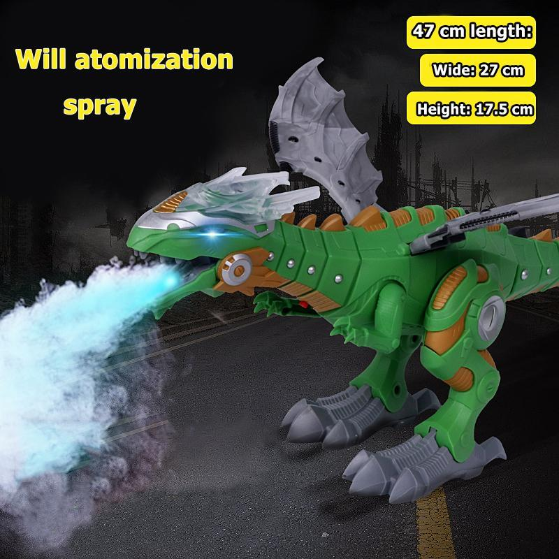 Image 5 - Electric Dinosaurs Model Kit Kids Walking Spray Swing Robot Toy Electronic Animal Model with Light Sound Toys For Children-in RC Robots & Animals from Toys & Hobbies