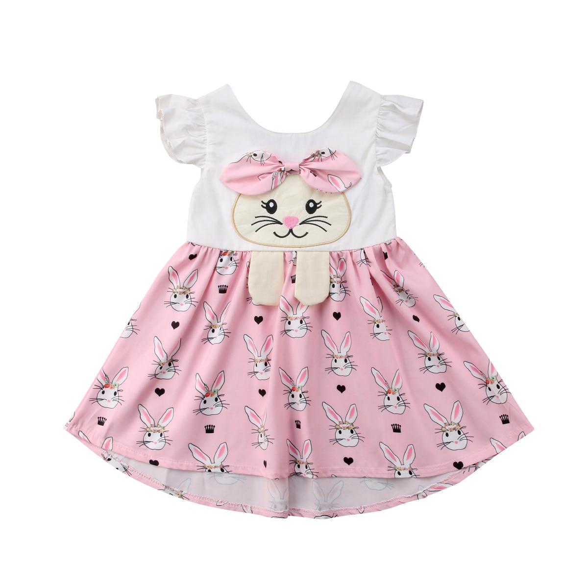 Sister Matching Easter Kids Baby Girls Bunny Romper Dress
