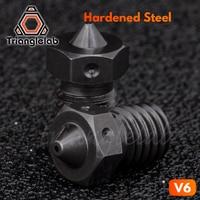 Trianglelab по 1 штуке, высококачественный A2 закаленной Сталь V6 насадки для печати пей PEEK или углеродное волокно для E3D HOTEND
