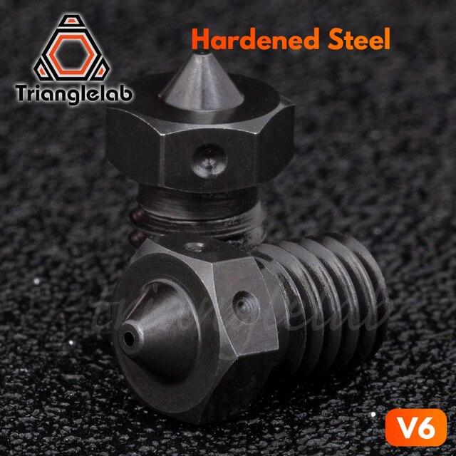 Trianglelab 1 PCS najwyższej jakości A2 stal hartowana V6 dysze do drukowania PEI PEEK lub włókna węglowego żarnika do E3D HOTEND