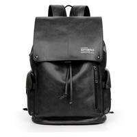 USB Charge Antitheft Backpack Men School Bag PU Leather Travel Bag High Quality Brand Fashion Backpacks 14 Inch Laptop Rucksack
