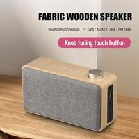 W5A Portable Wooden Wireless Speaker Subwoofer Stereo Bluetooth Speakers Radio Water Bathroom Kitchen Outside Speaker Support TF