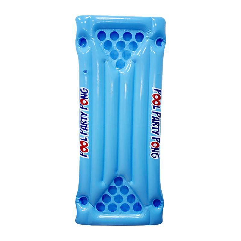 PVC gonflable jeu flottant rangée gonflable tasse trou flottant drainage sur la table de tennis de table jeu flottant rangée