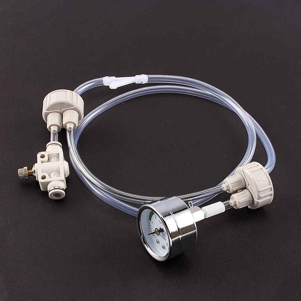 1 مجموعة ثاني أكسيد الكربون مولد DIY حوض السمك المزروعة خزان CO2 نظام صمام الأنبوب Guage زجاجة كاب كيت D201 القياسية