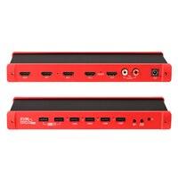 TreasLin 4x1 HDMI Quad Multi Viewer HDMI переключатель 4 Порты с бесшовные переключатель и ИК пульт дистанционного Поддержка 1080 P 60 Гц KVM Управление