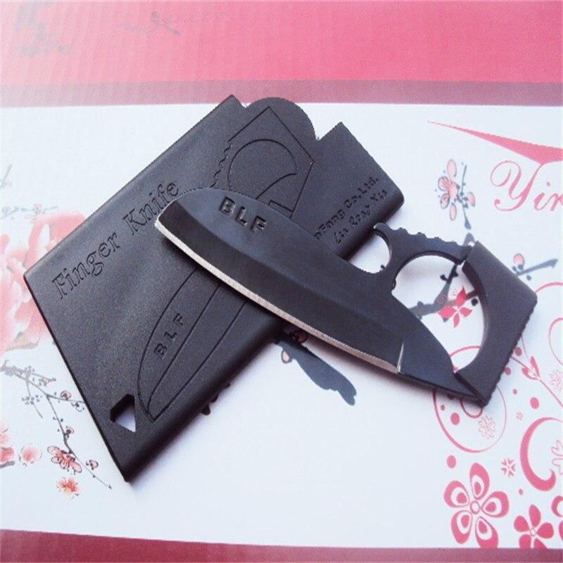 Multi-función tarjeta de crédito tamaño cuchillo Camping supervivencia bolsillo cartera para cuchillo dedo Mini águila al aire libre EDC Multi herramientas con vaina