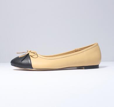 Cuero on Calidad Casual La Tamaño Zapatos white Pisos Alta Dedo Slip 34 Mujeres Genuino 2018 Redonda Del Bowtie Beige Las Nuevo Ballet black Pie De 42 IwYx7nqZf8