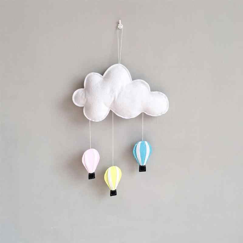 1PCS เด็กจี้ Nordic ลมตกแต่ง Cloud Hot Air บอลลูนอุปกรณ์เสริมจี้ตกแต่งบ้าน Felt เต็นท์เครื่องมือ
