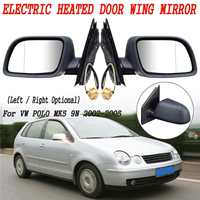 Left Right Car Door Heated Electric Wing Mirror Glass Fit For VW for POLO MK5 9N 2002 2003 2004 2005
