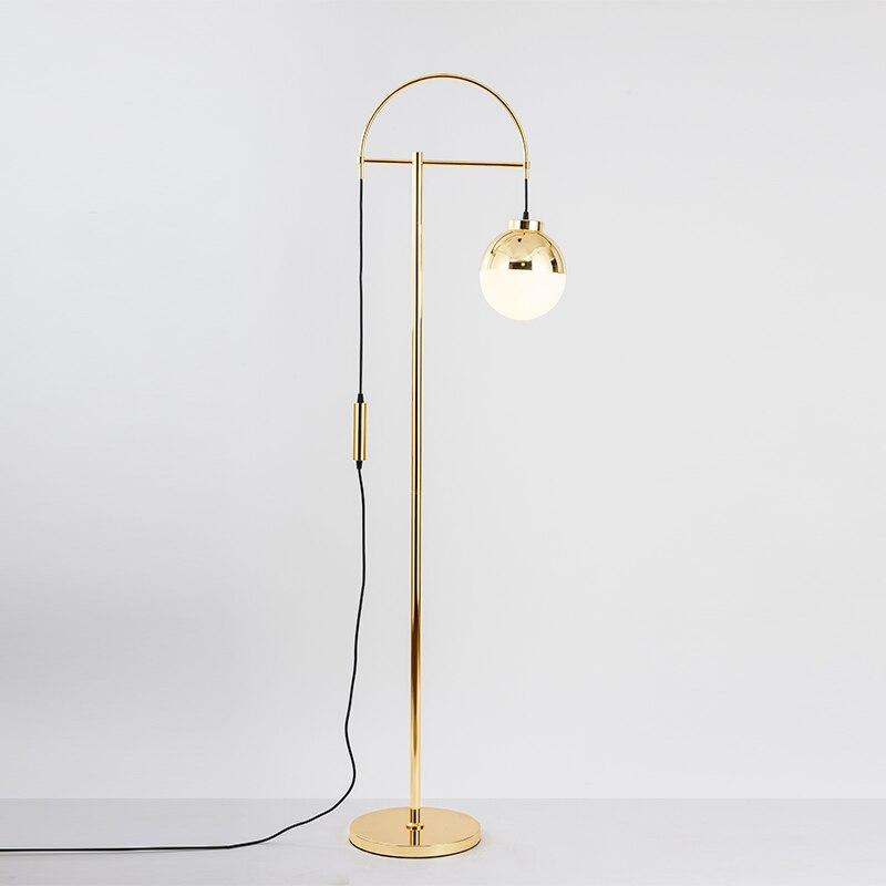 Moderne métal or LED lampadaires salon bureau décoration lampadaires éclairage appareils de cuisine lampes sur pied Luminaria