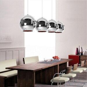 Image 3 - Coquimbo Globe Pendant Lights Copper Glass Mirror Ball Hanging Lamp Kitchen Modern Lighting Fixtures Hanging Light